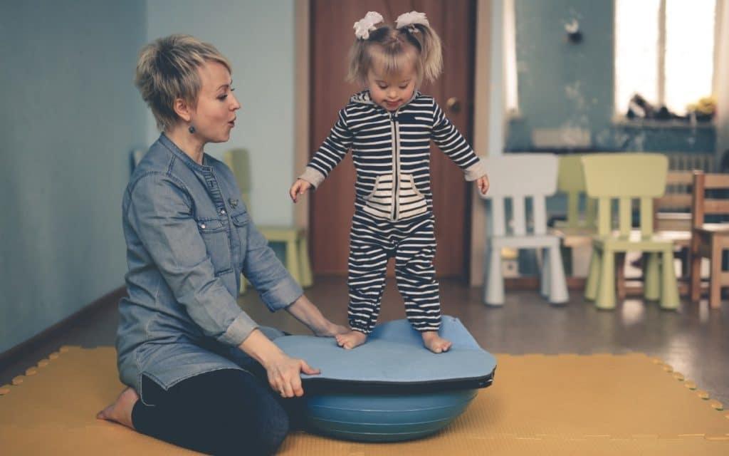 Child Using the Best Balance Board