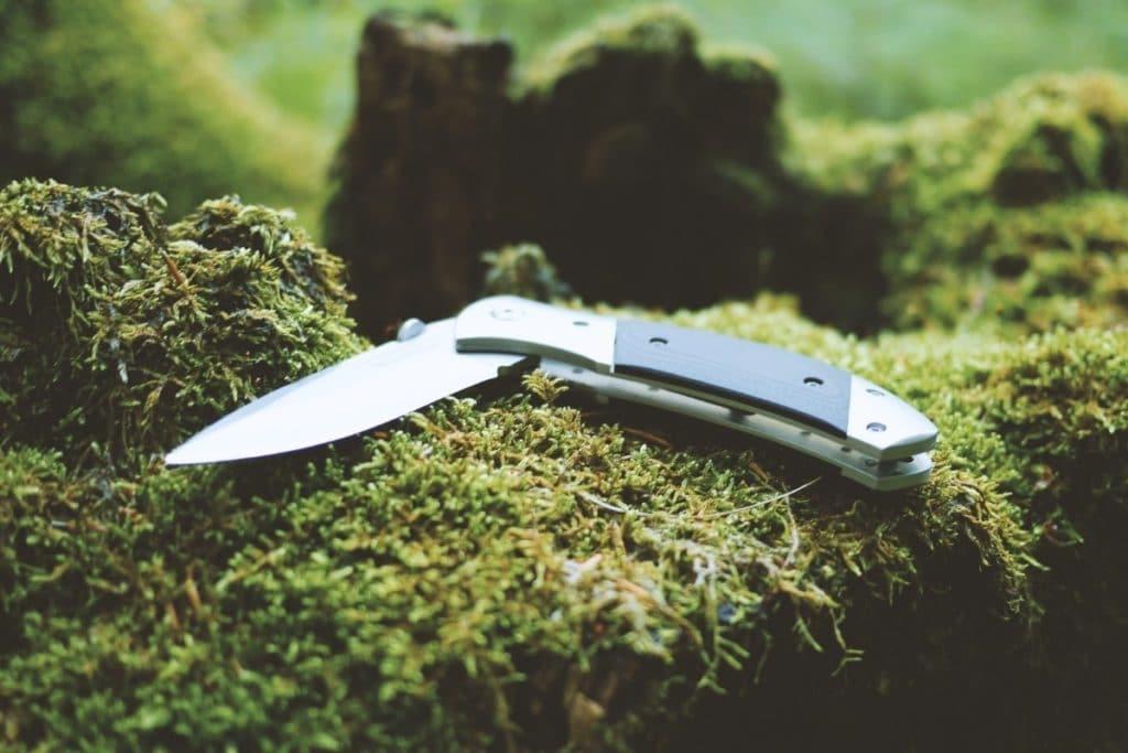 Knife on Tree Stump