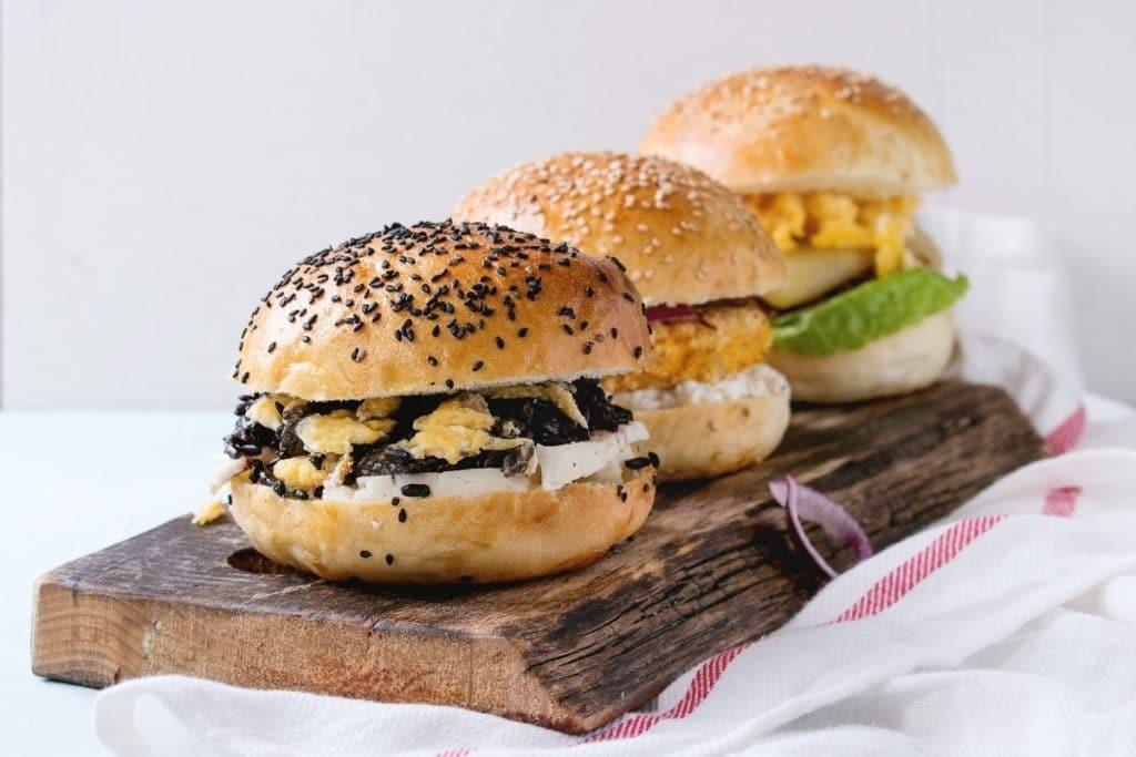 Best Vegan Burgers on a Platter
