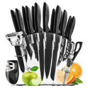 Home Hero Stainless Steel Knife Set with Acrylic Block 17 Piece Set