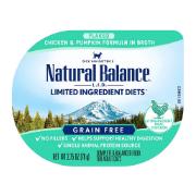 Natural Balance L.I.D. Limited Ingredient Diets Chicken & Pumpkin Formula Shreds Grain-Free Wet Cat Food, 2.75-oz, case of 24