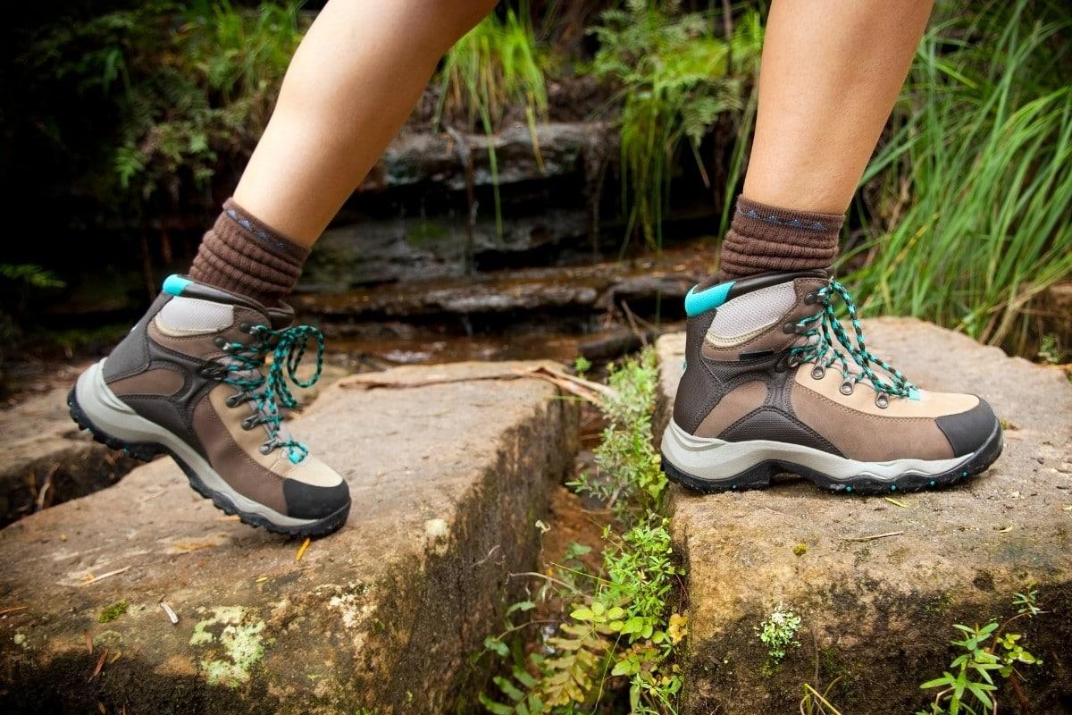 Woman Wearing the Best Hiking Socks