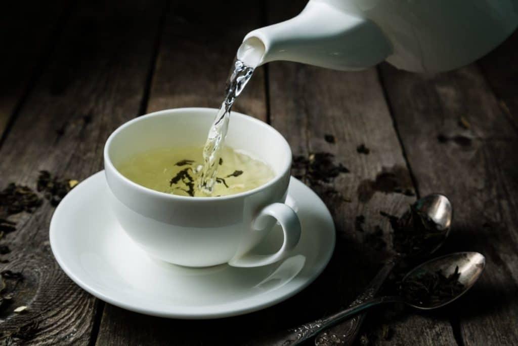 White Tea being poured