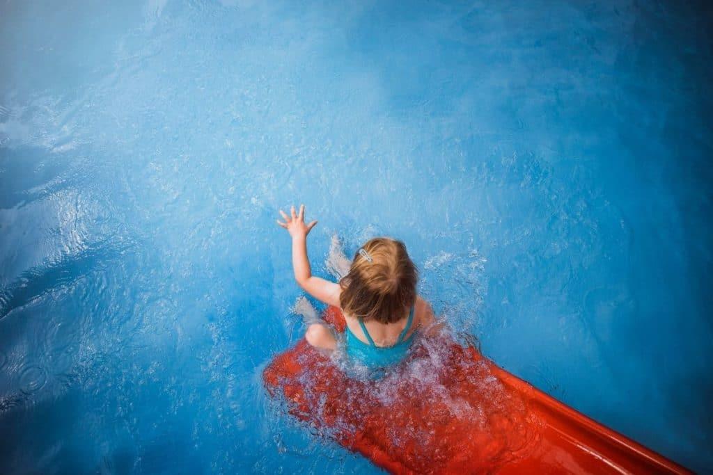 Child enjoying a Saltwater or Chlorine Pool