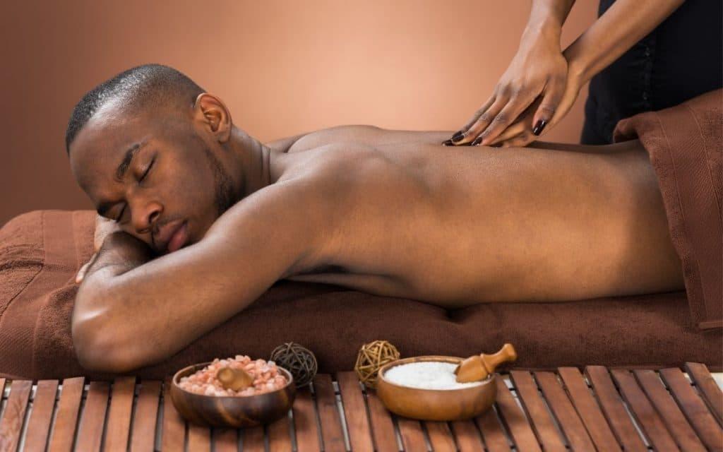 Man Getting a Shiatsu massage