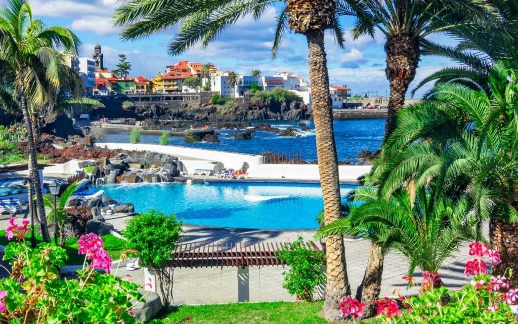 Resort using saltwater pools