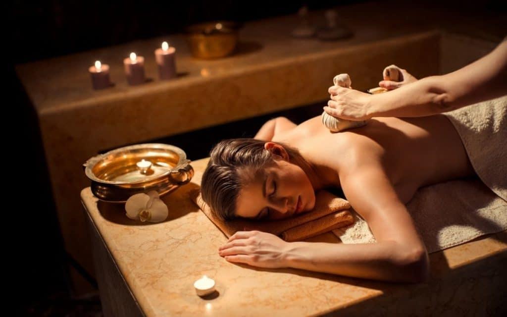 Woman getting a standard massage