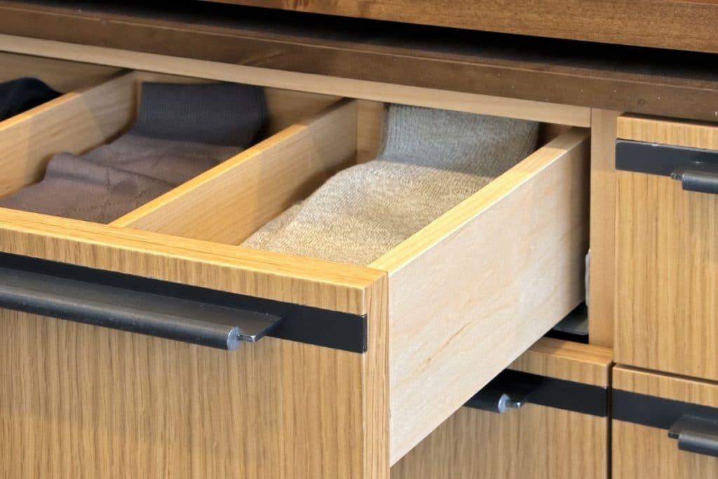 Open drawer of Bamboo Socks