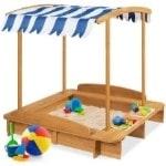 Best Choice Products Wood Cabana Sandbox